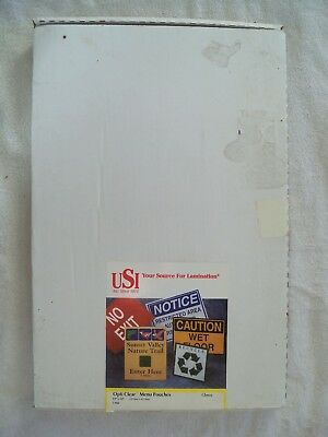 """Opti Clear Thermal Laminating Pouches Menu Size; 5 Mil; 12""""x18""""; 70 Pouches"""