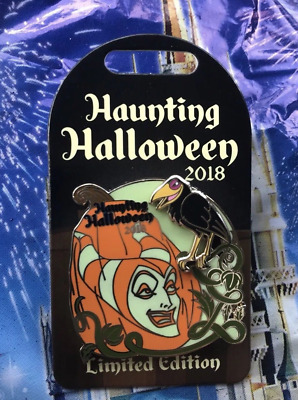Disney Haunting Halloween 2018 Maleficent Pin LE 3000 Glow In The Dark Sleeping