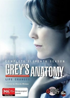 Grey's Anatomy Complete Eleventh Season DVD 2015 Brand New Sealed