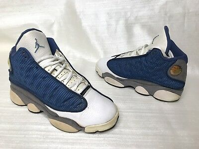official photos 6f86b 264c6 OG 2010 OG NIKE AIR JORDAN RETRO 13 Xiii WHITE FRENCH BLUE FLINT GREY SZ 4Y