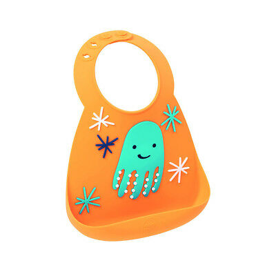 New Make My Day Baby Silicone Bib Octopus BPA Free Easy clean