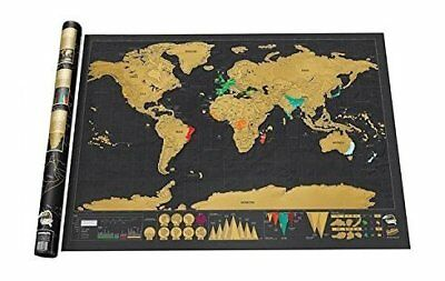 Scratch off world map poster | Places you travel scratchable map of the world pe