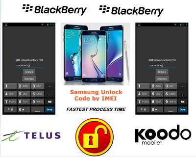 Telus / Koodo Unlock Code For Blackberry Phone Any Canadian Model