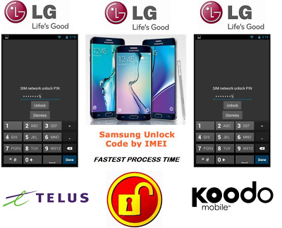 Telus / Koodo Unlock Code For Lg Phone Any Canadian Model