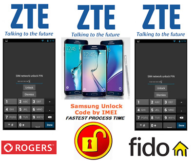Rogers / Fido Unlock Code For Zte Phone Any Canadian Model