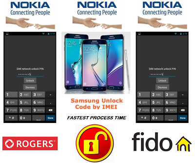 Rogers / Fido Unlock Code For Nokia Phone Any Canadian Model