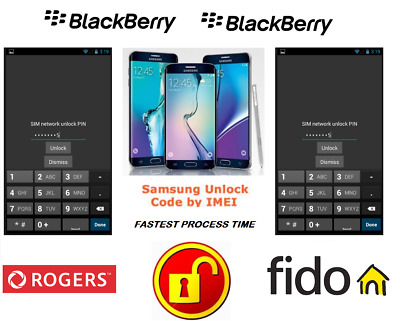 Rogers / Fido Unlock Code For Blackberry Phone Any Canadian Model