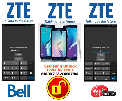 Bell / Virgin Unlock Code For Zte Phone Any Canadian Model