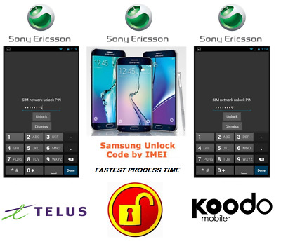 Telus / Koodo Unlock Code For Sony Phone Any Canadian Model