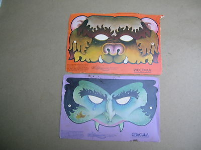 Vintage 1950's Halloween Masks from Cereal box