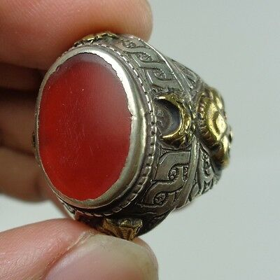 Agate Stone Old Silver Ring Medieval Rare Stunning Ancient Are Unique