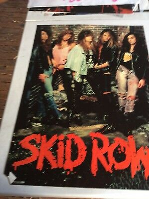 Retro Poster.skid Row.heavy Metal Band.1980S.music .rock