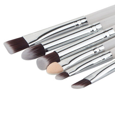 6PCS Eye Makeup Cosmetics Brushes Set Pro Eyeshadow Eyebrow Lip Make Up Tools