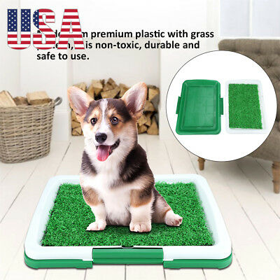"18"" Pet Potty Trainer Grass Mat Dog Puppy Training Pee Patch Pad Indoor Outdoor"