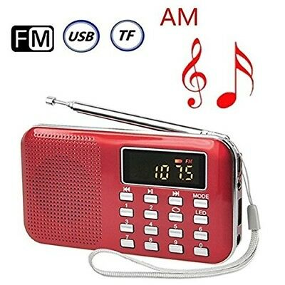Mini Digital AM FM Pocket Radio Portable Speaker Mp3 Music Player Stereo Sound