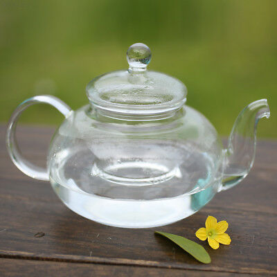 A942 Practical Resistant Glass Teapot Infuser Coffee Tea Leaf Coffee Office 600M
