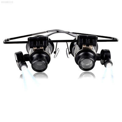 3A81 New Product 20x Magnifying Eye Glasses Loupe Watch Repair LED Light Rotatab