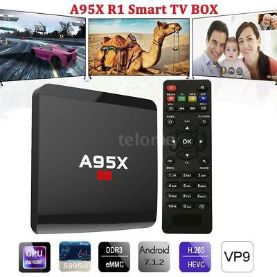 A95X R1 Smart Android 7.1 TV Box S905W Quad Core 4K 1GB+8GB WiFi H.265 HD Médias