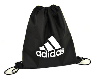 93b944b7b96b Adidas GYM SACK Shoes Bag Black White L48222 Football Soccer Bags Sports