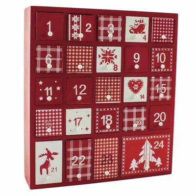 Heaven Sends,Wooden Advent Box, 24 Drawers, Christmas Countdown, Fill Yourself,