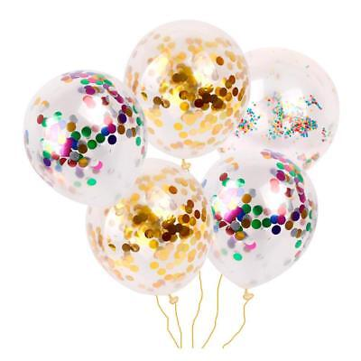 "100PCS 12"" Sequin Filled confetti Latex Balloon Christmas Wedding Birthday Party"