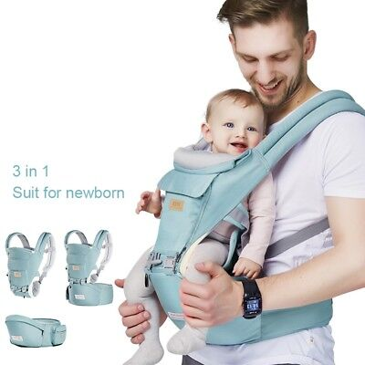 Ergonomic Baby Carrier Infant Kids Hipseat Backpack Front Facing Sling Removable