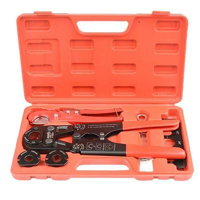 """IWISS PEX Pipe Crimping Tool Kit with Jaw Sets 3/8"""",1/2"""",3/4"""",1"""" with PEX Pipe"""