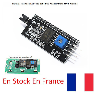 IIC/I2C / Interface LCD1602 2004 LCD Adapter Plate ecran 1602 pour Arduino PROMO