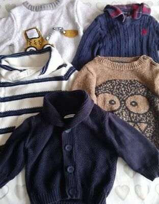 Baby Boys Next jumper and cardigan bundle 3-6 Months 5 items