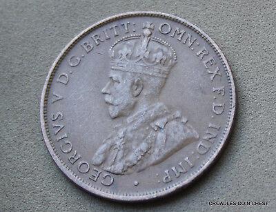 1931 Penny Lower Mintage Predecimal Scarcer Coin Diamond 6 Pearls  #jmf40