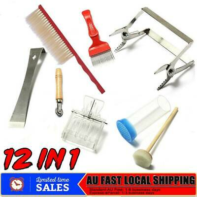12in1 Beekeeping Beekeeper Equipment Tool Bee Brush Catcher Cage Hive Holder Kit