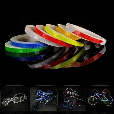 8M Reflective Stickers Safety Auto Car Bicycle DIY Reflector Tape @*