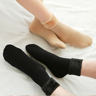 Faux Wool Cashmere Solid Dress Casual Winter Warm Thick Socks Breathable N7