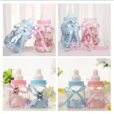 3/30pcs Fillable Bottles Candy Box Baby Shower Baptism Party Favor Christening
