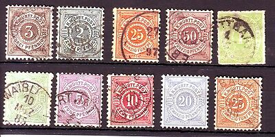 19 th CENTURY EUROPE  OLD  MEDIEVAL  STATE  USED  == 9 == + 1 mINT