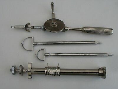 Antique / Vintage Orthopaedic Drill, plus an Archimedies Drill and Bits.