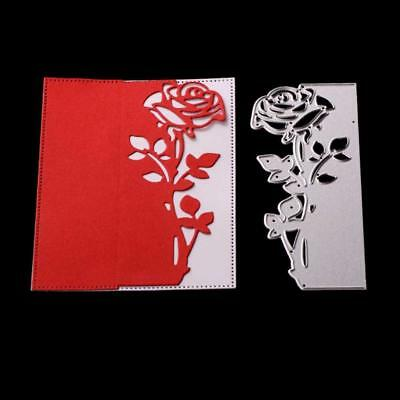 Rose Metal DIY Cutting Die Stencil Scrapbook Album Paper Card Embossing Craft
