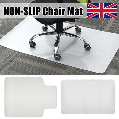 NON-SLIP Spiked Premium PVC Chair Mat Carpet Protector For Home/Office 90x120cm