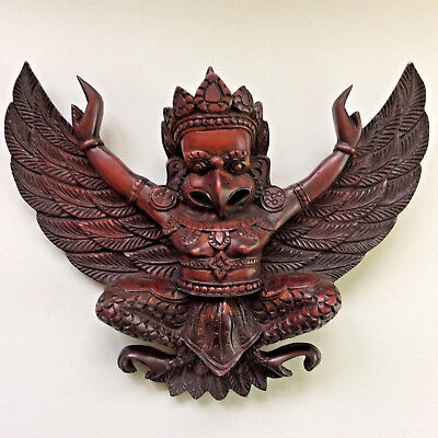 Garuda Figurine Wall Hanger Detailed Resin Nepal Temple Religious Protector