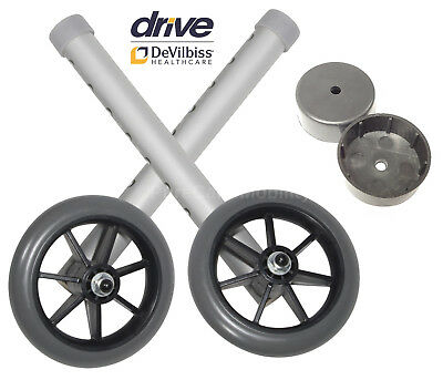 """Replacement 5"""" Walking Zimmer Frame Wheels For Drive Devilbiss Frames Spare Part"""