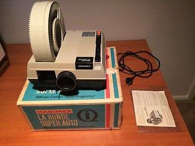 HANIFEX Rondette 1500A Slide Projector with documentation & original box