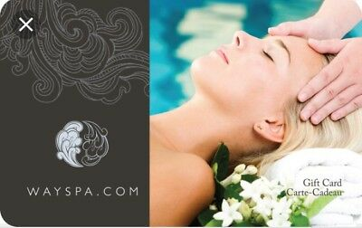 WAYSPA Gift Card - $150 Mail Delivery