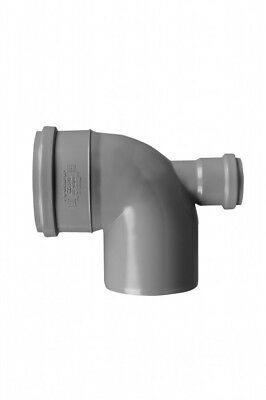 110mm Soil Pipe Elbow Bend 90° Single Socket with 50 mm Inlet Back, Sewer Waste