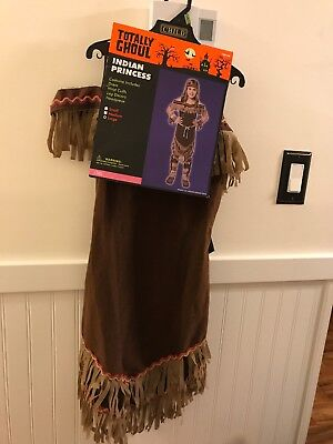 Totally Ghoul Girls Halloween Deluxe Indian Princess Costume Size Large - New