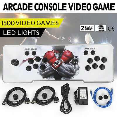1220 Video Games Pandoras Box Key 5s Metal LED Double Stick Arcade Console