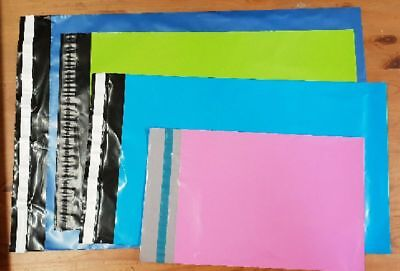 50 Mixed Bags (SP2) Pink Blue Green Baby Blue Mailing Bags FIRST CLASS POSTAGE