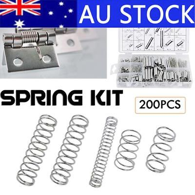 200Pcs Small Extension Compression Coil Spring Tension Pressure Spring Kit