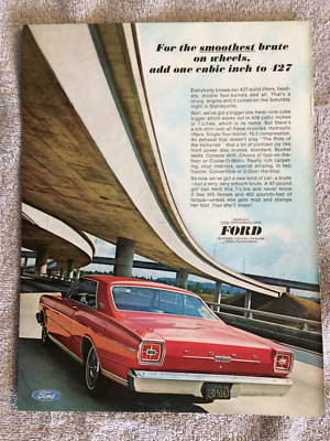 Vintage Ford Muscle Car Ads - Fairlane Galaxie Torino 1966-1970 - Free Shipping