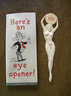 Vintage Gil Elvgren Plastic Nude Advertising Letter Opener In Original  Sleeve