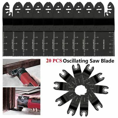 20Pack 34mm Oscillating Multi Tool Saw Blade Carbon Steel Cutter DIY Universal X